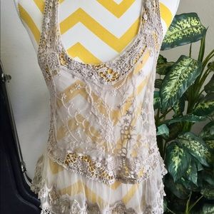 Roommates Sheer Lace Blouse